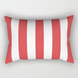 Jasper fuchsia - solid color - white vertical lines pattern Rectangular Pillow