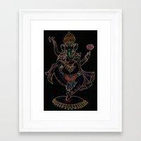 ganesh Framed Art Prints featuring Ganesh by Zack Bryson