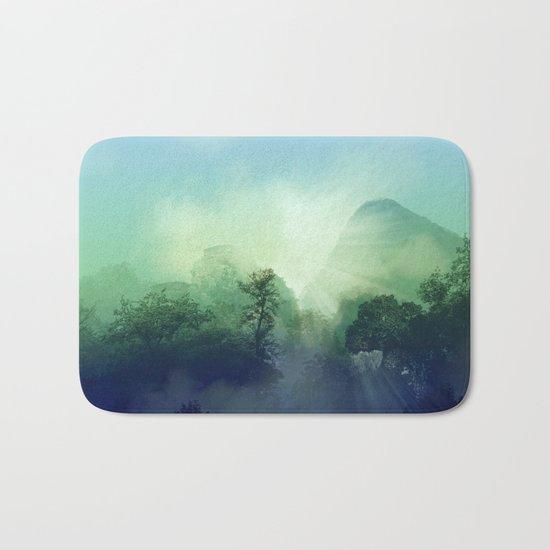 tropical green forest Bath Mat