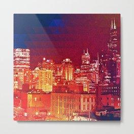 Chicago Cityscape Skyline Metal Print