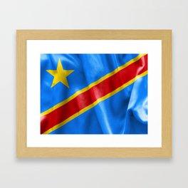 Democratic Republic of the Congo Flag Framed Art Print