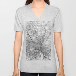 Vintage Map of Richmond Virginia (1934) BW Unisex V-Neck