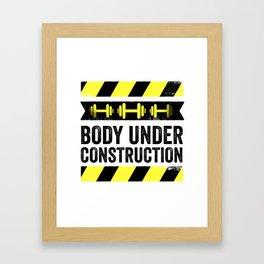 Body Under Construction Framed Art Print