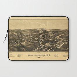 Aerial View of Walden, Orange County, New York (1887) Laptop Sleeve