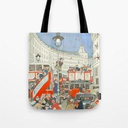 "William Heath Robinson - ""The Spirit of Christmas in Regent Street"" (1928) Tote Bag"