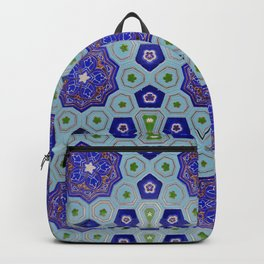 Samarkand Kaleidoscope in Blue Backpack