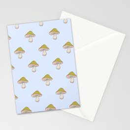Capped Fellow pattern in blue Stationery Cards