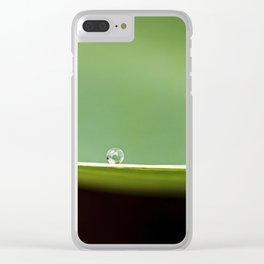 on a ledge Clear iPhone Case