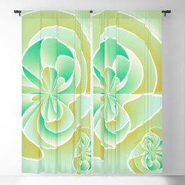 Irregular floral shapes Blackout Curtain