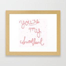 Sweetheart // red Framed Art Print