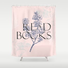 Read Books vintage typography Shower Curtain