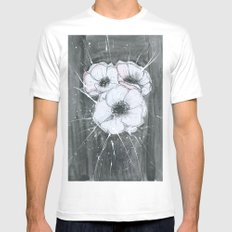 Anemone White Mens Fitted Tee MEDIUM