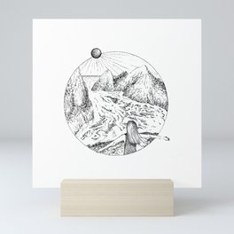 Swept away Mini Art Print