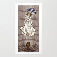 hallion Art Prints featuring Leia's Corruptible Mortal State by Karen Hallion Illustrations