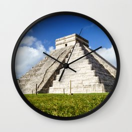 Chichen Itza Yucatan Mexico Wall Clock