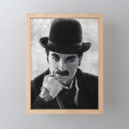 Charlie Chaplin Framed Mini Art Print