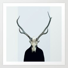 Living Skull and Horns Art Print