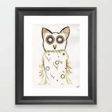 Faux Flammulated Fauna Framed Art Print