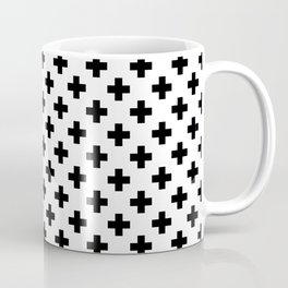 Black Crosses on White Coffee Mug