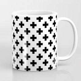 Black Crosses on White Coffee Mug