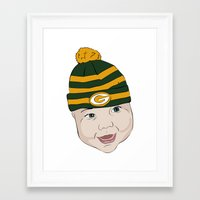 packers Framed Art Prints featuring Baby Packers by Miakoworld