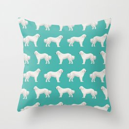 Great Pyrenees dog portrait pet gifts for dog person with unique dog breeds by pet friendly Throw Pillow