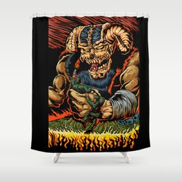 judgment of the devil Shower Curtain