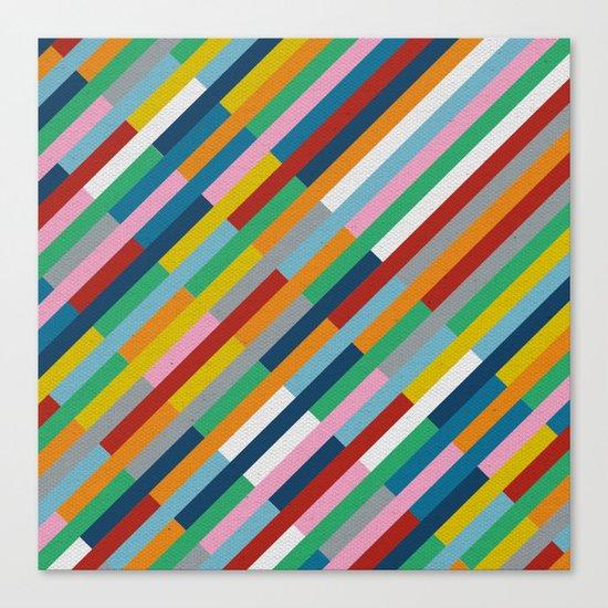 Bricks Rotate 45 Canvas Print