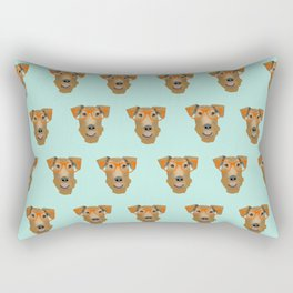Airedale Glasses airedale dog print airedale pillow dog pattern Rectangular Pillow