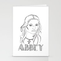 downton abbey Stationery Cards featuring Abbey by Lacee Swan