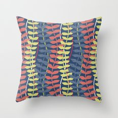 seagrass pattern - blue red yellow Throw Pillow