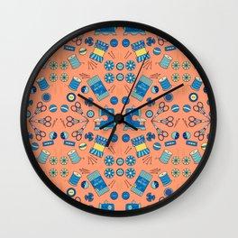 Kaleidoscope of Sewing Notions Wall Clock