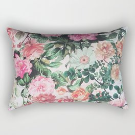 Vintage green pink lavender country floral Rectangular Pillow