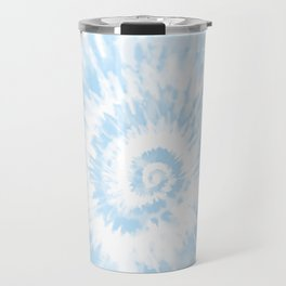 Lighter Ocean Blue Tie Dye Travel Mug