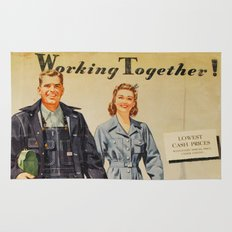 1942 Working Together Cover Rug