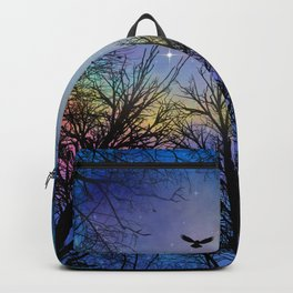 Wisdom Of The Night - Colorful Backpack