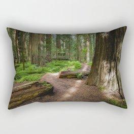 Walk Through The Redwoods Rectangular Pillow