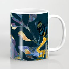 blue abstract floral Coffee Mug