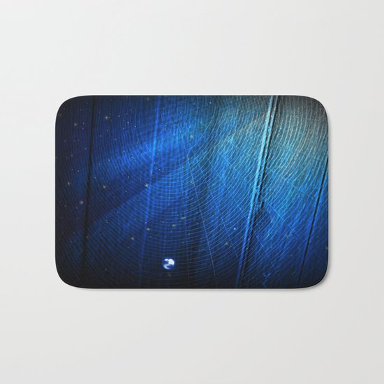 Raindrop on Blue Web Bath Mat