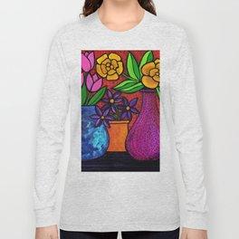 Floral Still Life Long Sleeve T-shirt