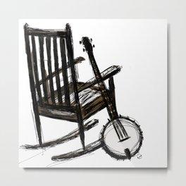 Grandma's Banjo Metal Print