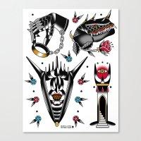 lotr Canvas Prints featuring LOTR flash set by DerickJames