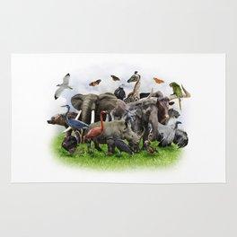 Animal Collage Rug