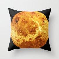 venus Throw Pillows featuring Venus by Tobias Bowman