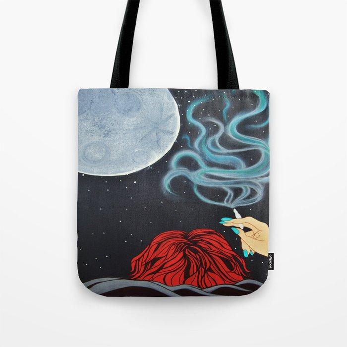 Midnight Toker (#2), Smoking Lady Series Tote Bag