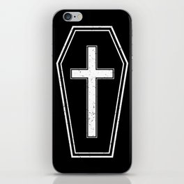 Classic Horror Distressed Gothic Coffin iPhone Skin