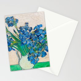 Irises by Vincent van Gogh Oil Painting Still Life Floral Arrangement In Vase Stationery Cards