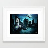 super heroes Framed Art Prints featuring Heroes by Nessendyl