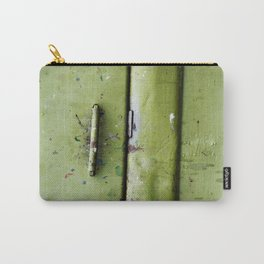 green industrial detail Carry-All Pouch