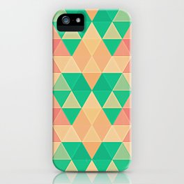Triangles::Pastels iPhone Case